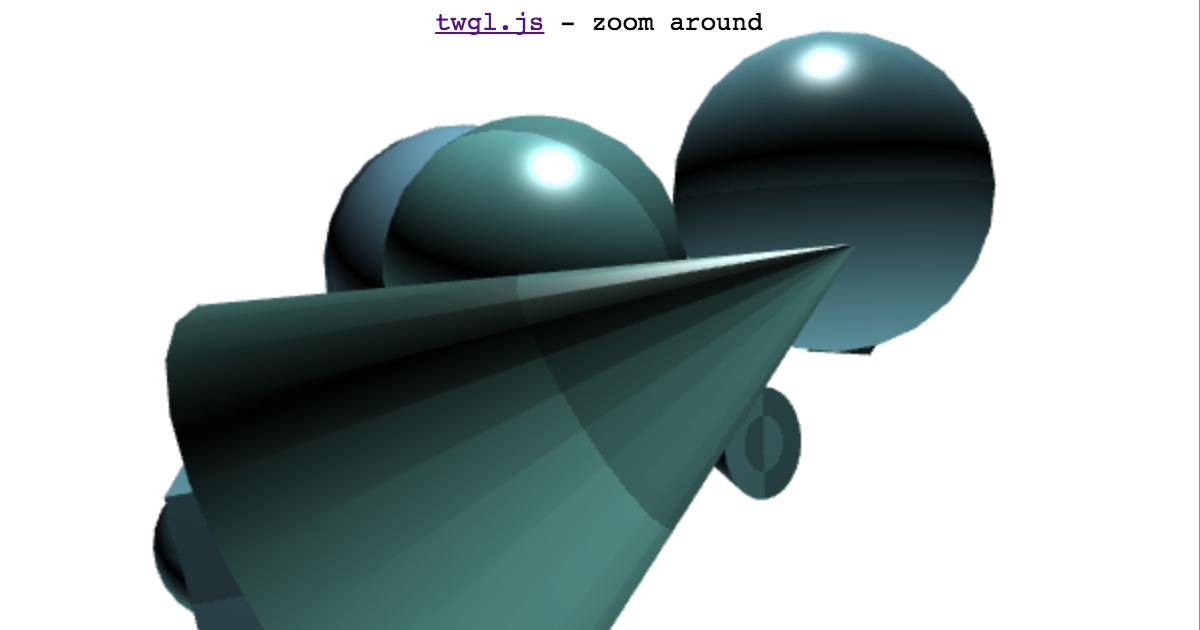 twgl js - zoom around